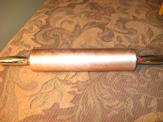 copper rolling pin mad men midcentury vintage kitchen homespun society epsteam
