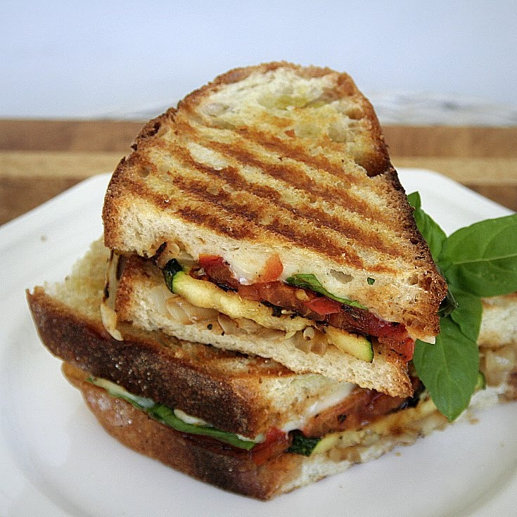 ... sweet onions warm panini with taleggio grilled radicchio and speck