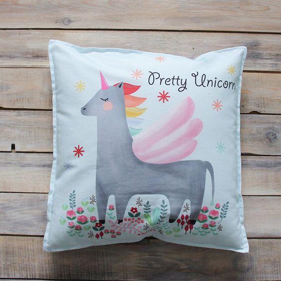 Pretty Unicorn pillow