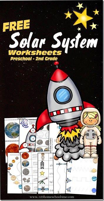 Solaires Worksheets système - feuilles imprimables GRATUIT pour les enfants de pratiquer la lettre S, de comptage, les planètes, les constellations, en ajoutant, et plus pour l'éducation préscolaire, de la maternelle, 1ère année, et 2e enfants de qualité.