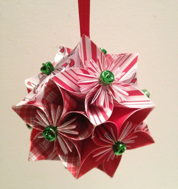 190 best origami images on pinterest crafts bricolage and paper art all peppermint origami paper flowers pomander kissing ball paper ball christmas ornament mightylinksfo Choice Image