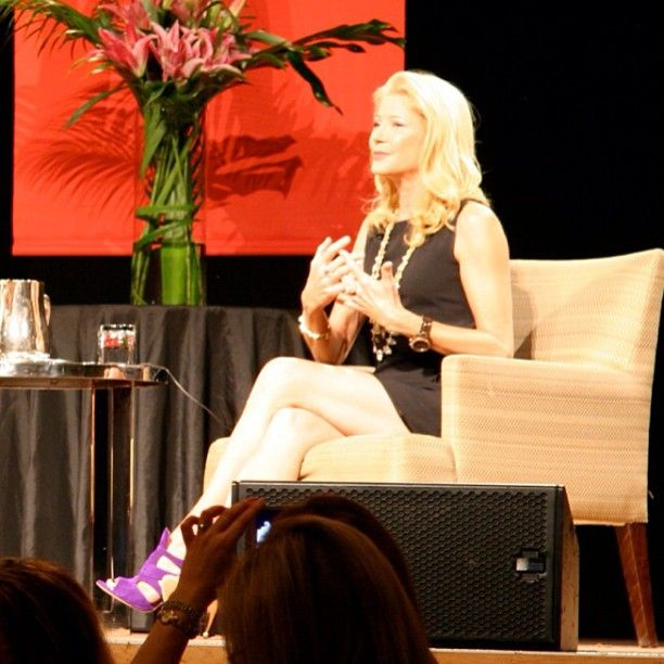 The stunning Candace Bushnell (and her stunning shoes) at today's @Business Chicks lunch.