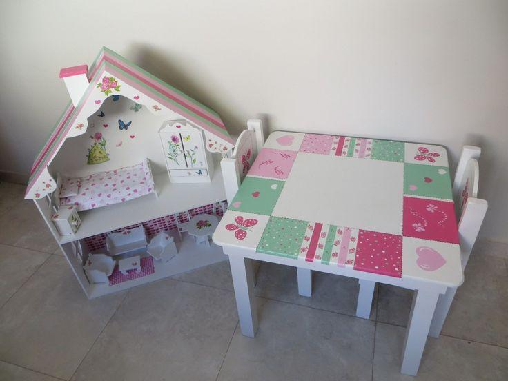 Las 25 mejores ideas sobre mesas pintadas en pinterest - Mesas infantiles madera ...