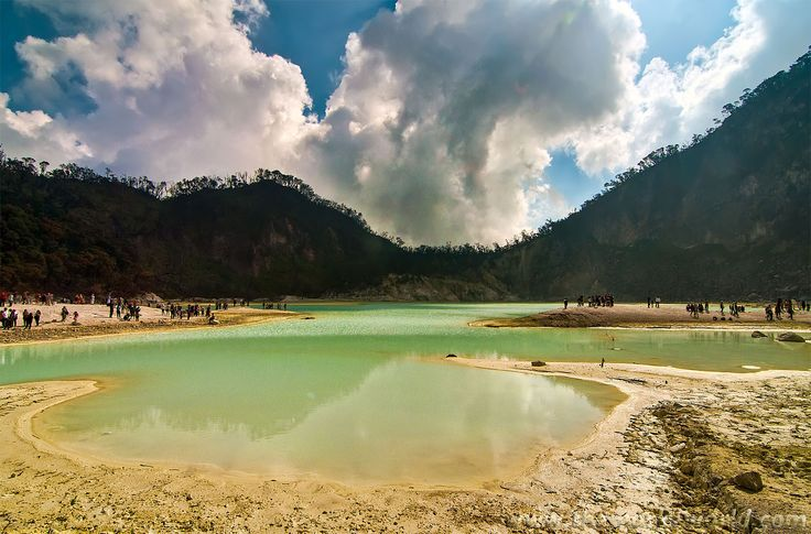 Kawah Putih, one of calderas in Java located at Bandung West Java. Spot of Photography for many people.