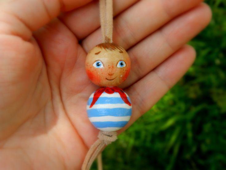 Collier pour enfant fait main bijoux en bois par malinkaartz
