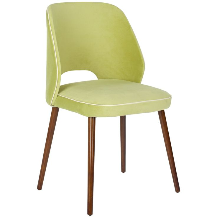 Safavieh Retro Light Green Linen Blend Side Chairs (Set of 2) | Overstock.com Shopping - The Best Deals on Dining Chairs