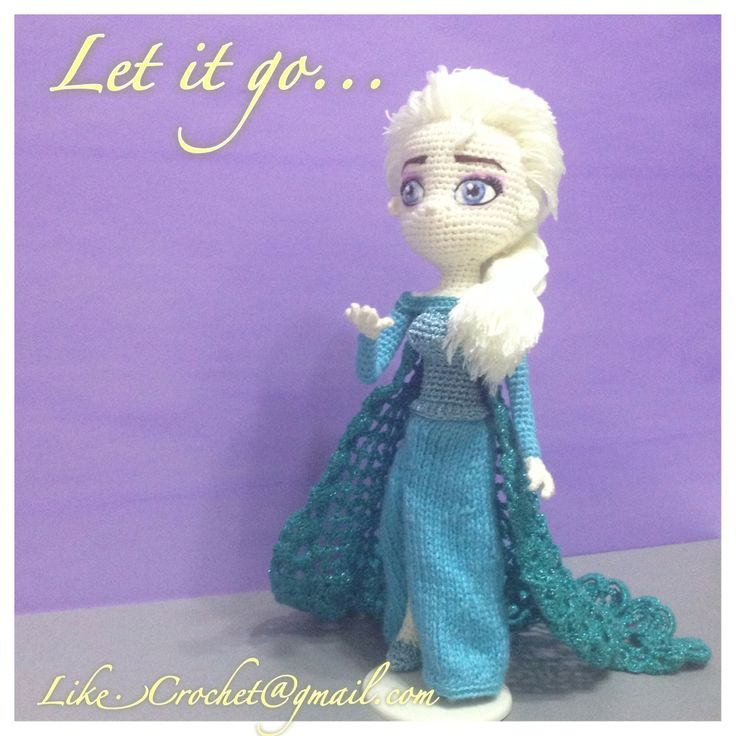 Crochet Elsa Doll Pattern : Ice Gown Elsa Frozen Amigurumi pattern crochet dolls ...