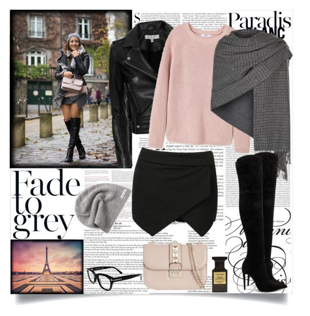 """""""MorningInParis"""" by fashionaddict-il ❤ liked on Polyvore featuring Kershaw, Oris, IRO, MANGO, Valentino, Converse, Weekend Max Mara, Kendall + Kylie and Tom Ford"""