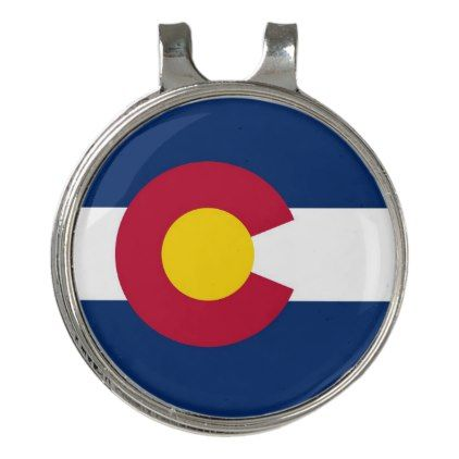 Golf Hat clip and Ball Marker Flag of Colorado  $14.95  by AllFlags  - cyo customize personalize diy idea