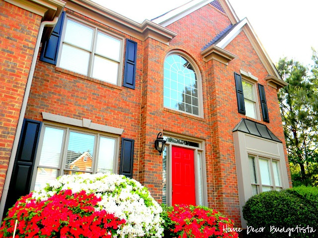 Red Front Door Black Shutters