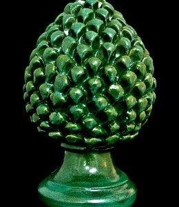 Hand Painted Italian Ceramic Ornamental Pine Cone Pine