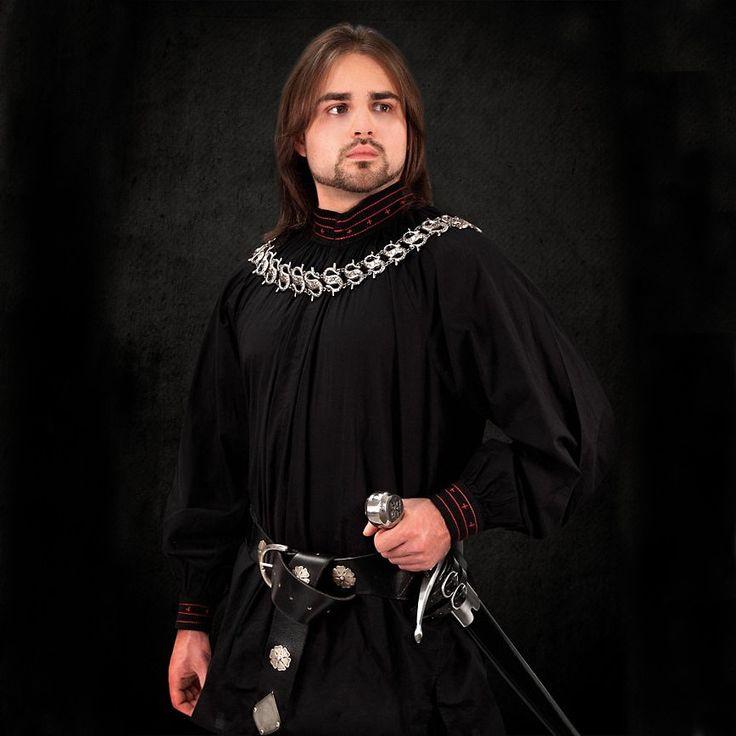 Tudor Shirt - Black And Red