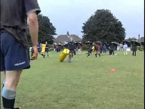 Exercice rugby plaquage reaction - Entrainement Rugby