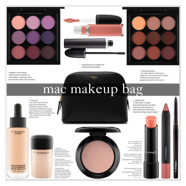 """Mac Makeup Bag"" by jungshook ❤ liked on Polyvore featuring beauty, MAC Cosmetics and Mulberry"