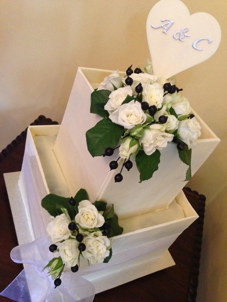 Chocolate wedding or engagement cake