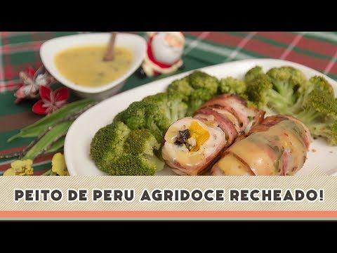 Peito de Peru Agridoce Recheado   Receitas de Minuto - A Solução prática para o seu dia-a-dia!Receitas de Minuto – A Solução prática para o seu dia-a-dia!
