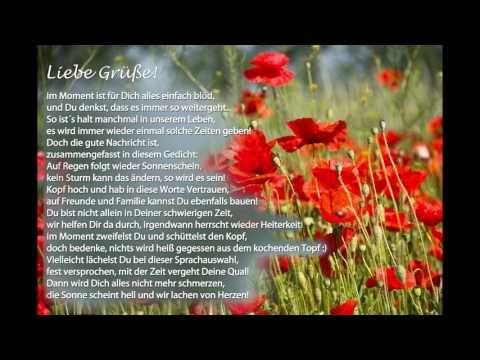 aufmunternde Worte für Dich in Gedichtform als Grußkarte für kleine und große Krisen - YouTube