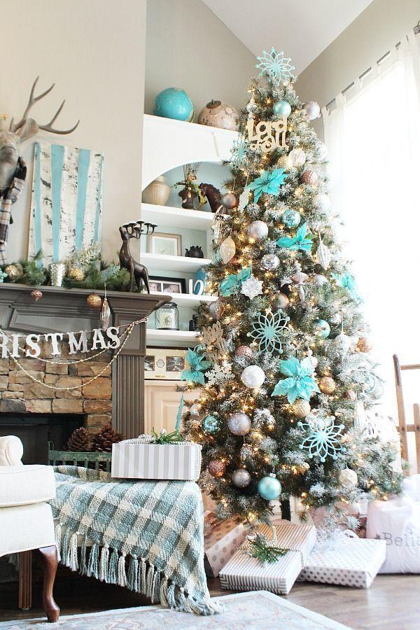 Christmas Tree - Turquoise Winter Wonderland idea