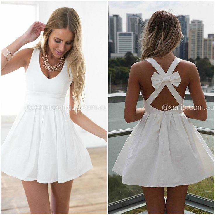 Beautiful white dress with bow - size 10 #xeniaboutique #xenia #reneesomerfield #renee #somerfield #dress #whitedress #white #bow #minidress #summer #cute #ebay #forsale #australia #cocktail