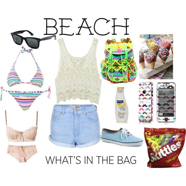 """What's in My Beach Bag"" by chellebritton on Polyvore"