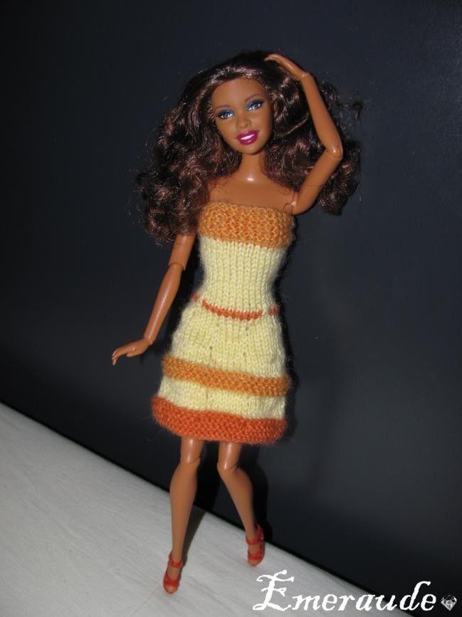 Tricot: Robe d'été n°13 pour Barbie