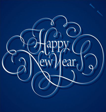 happy new year card design - Happy New Year Wishes Messages