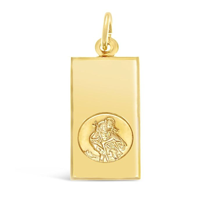 9ct Gold St Christopher Pendant with Jewellery Gift Box