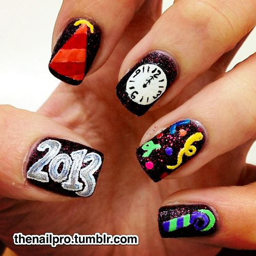 1000+ Images About Happy New Year Nail Designs On