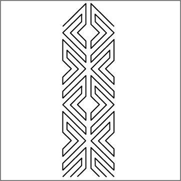 "Urban Elementz: Navajo - Stencil 4"""