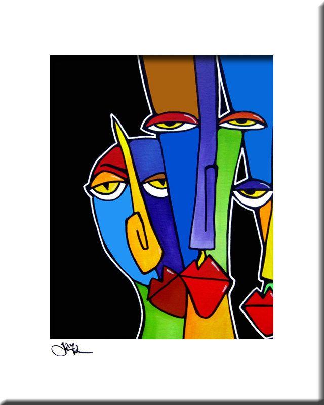 Abstrakter Malerei Modern Pop-Art Drucken von fidostudio auf Etsy