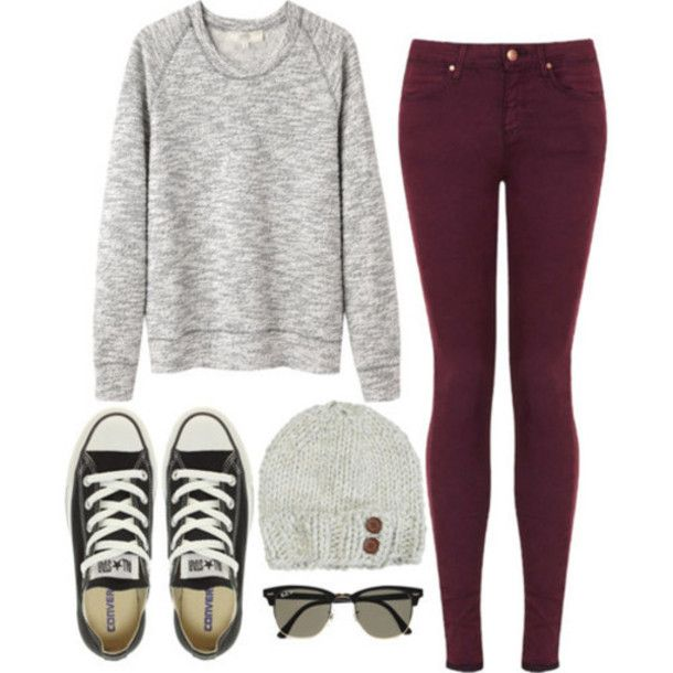 pants, skinny jeans, black converse, sweater, sunglasses – Wheretoget