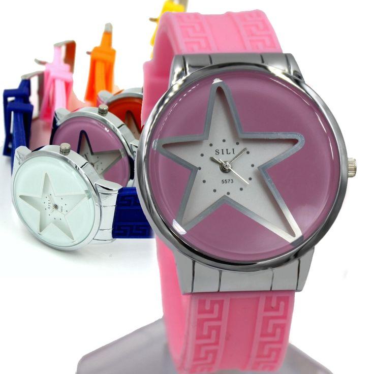 FW817GE PNP Shiny Silver cassa dell'orologio di colore rosa della fascia del silicone della vigilanza di signore di modo delle donne