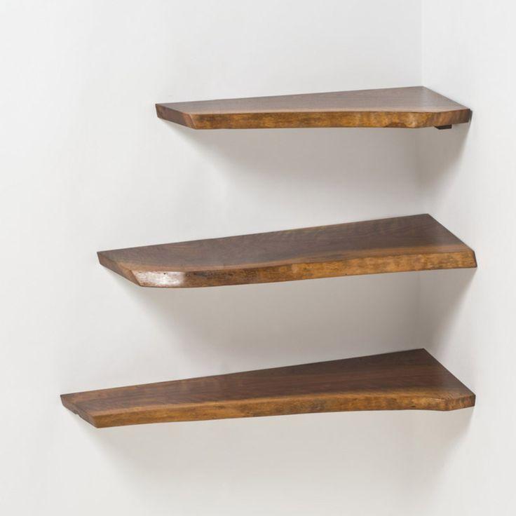 George Nakashima; Walnut Corner Shelves, 1969.