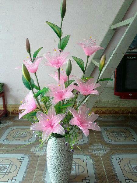 bunga lili dari stocking #handmade