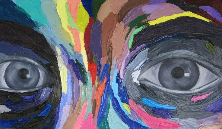"Natasha Pearson  ""Untitled (Self Portrait)"" Oil on Canvas"