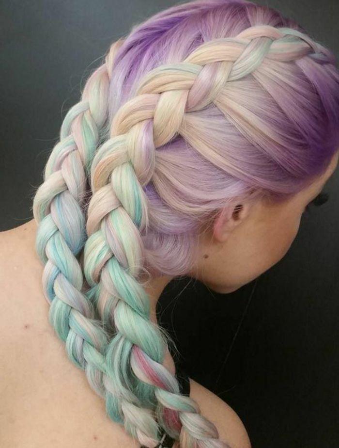 ▷ 1001+ Ideen für bunte Haare. Bunte Haarfarben sind immer aktuell!