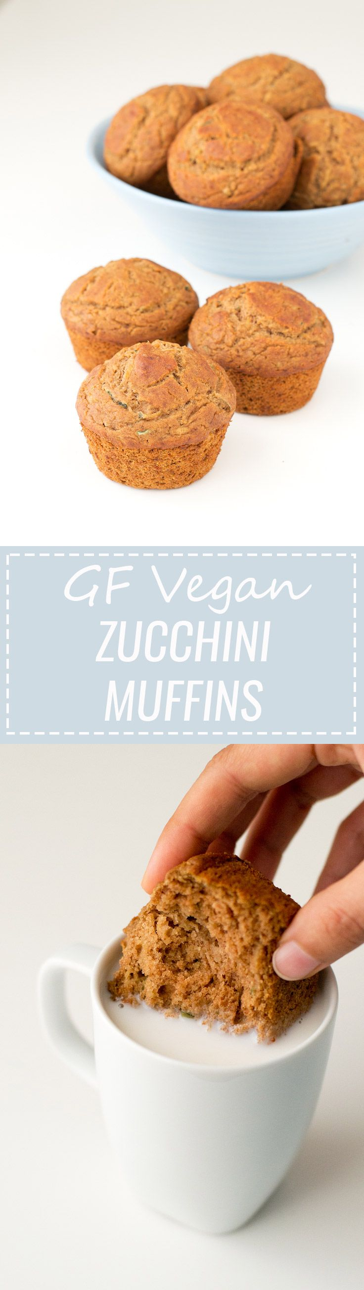 Gluten Free Vegan Zucchini Muffins - They're super delicious, soft and moist and the best gluten-free vegan muffins I've ever tried!