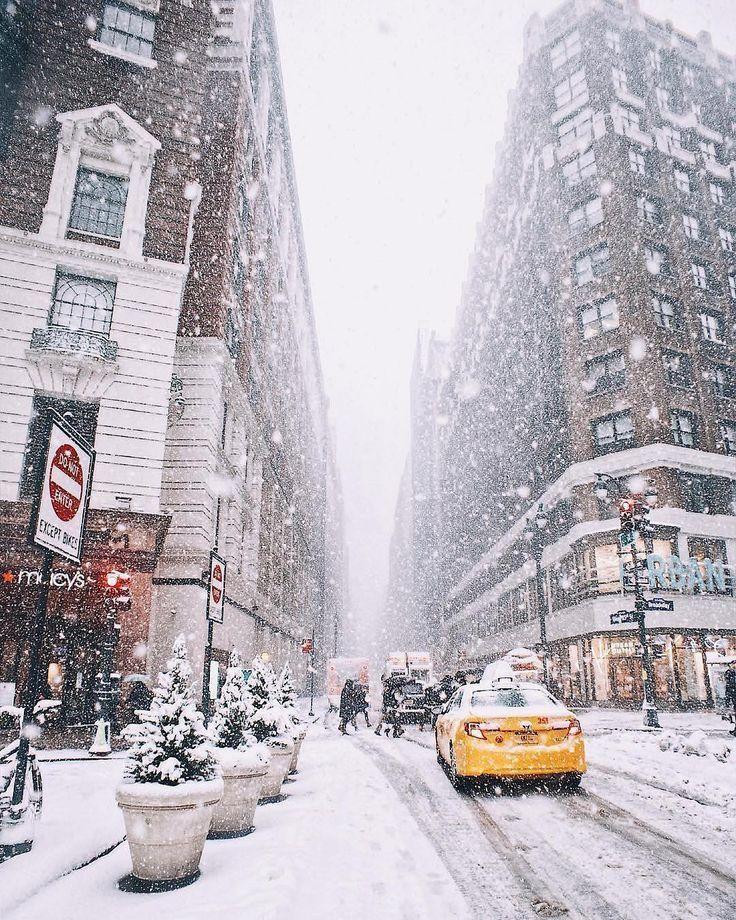 New York City Winter Snowy Streets Exploring The World Travel See Nyc Nyc Newyork Newyorkcity Newyorkwinter Nyc Christmas New York Christmas Winter City