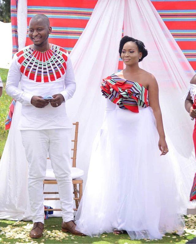 African Print Wedding Dress, South