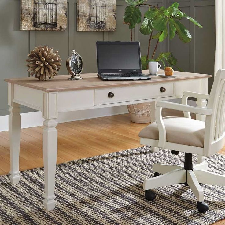 The Sarvanny Home Office Desk Works A Cottage Chic Aesthetic With Warmth Charm And Flair