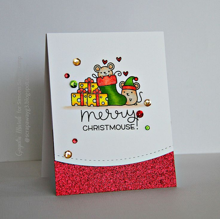 Love this card by Gayatri for the Simon Says Stamp Wednesday challenge (Anything Goes)