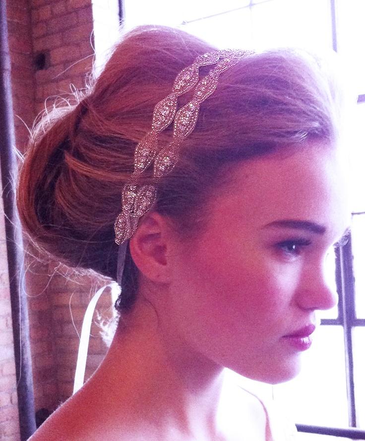 Two Strand Hanne Crystal Double Headband