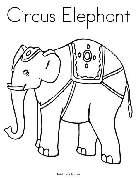preschool circus coloring pages-#15