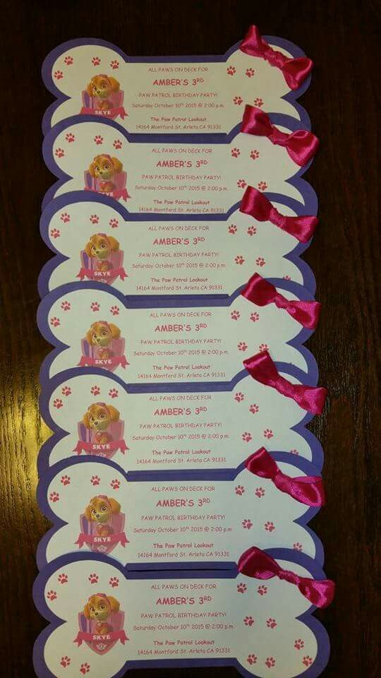 Cute skye invitations