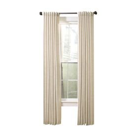Allen Roth Evington 95 In L Solid Linen Back Tab Curtain