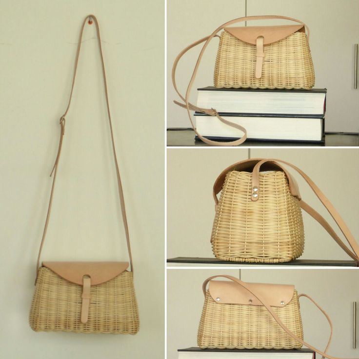 Excellent quality wicker bag with long handle 100% ecologic
