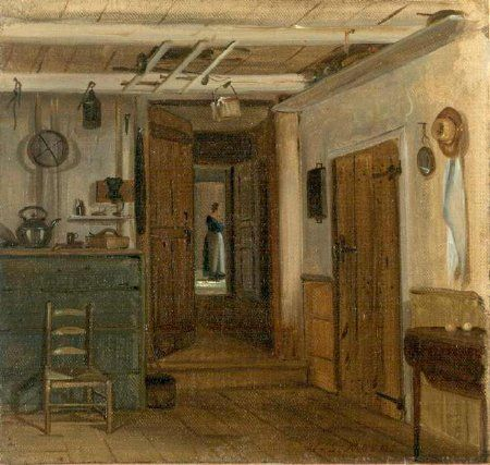 William Sidney Mount,1860, Interior Of The Mount House