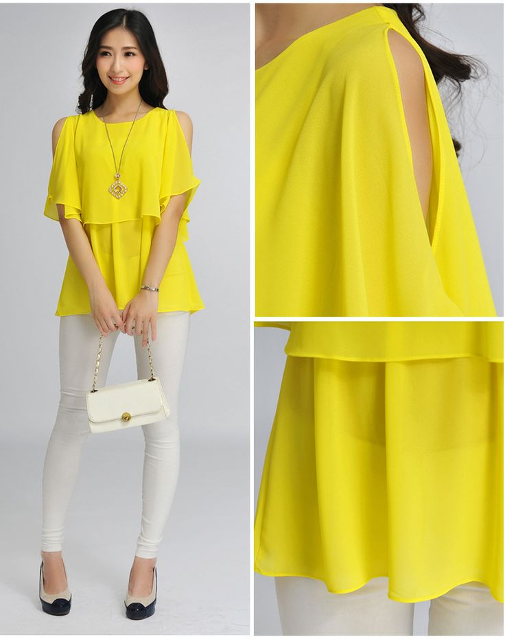 casual wild solid color blouse S4995