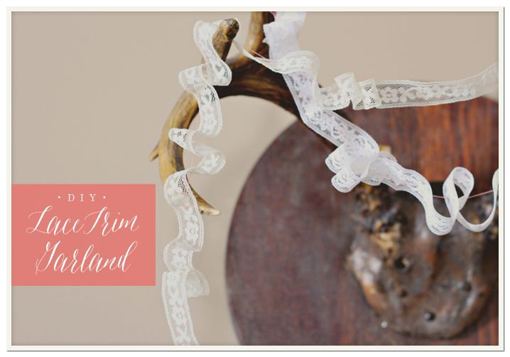• DIY • Lace Trim Garland via Oh, What Love Studios