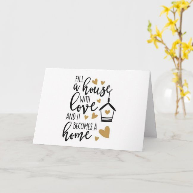 Happy For You And Your New Home Card Zazzle Com In 2021 New Home Card Message Housewarming Card House Warming Gift Diy